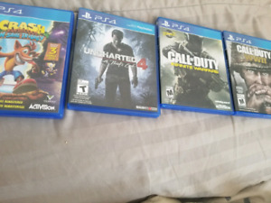 Great deal Any gamers Ps4 4 games and 1 controller
