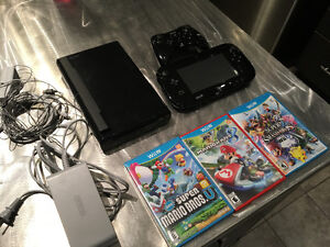 Wii U Delux with three games!