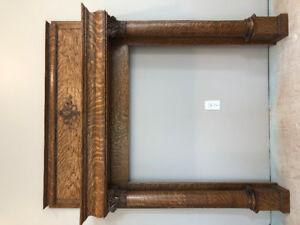 Gorgeous Victorian quarter sawn oak fireplace mantle
