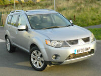 2008 (08) Mitsubishi Outlander 2.0DI-D Elegance 4WD With Sat-Nav,Leather,Camera