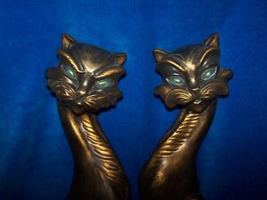 CATS WALL HANGERS by GOODSELL PRODUCTS USA.NICE PAIR