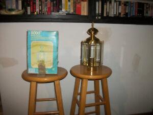 2 Solid Brass Post Lanterns