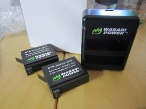 2 BTR-Hero4-JWP Batteries plus charger