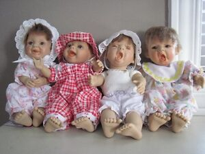 """Vintage 9"""" Tall Funny Face Baby Doll Berenguer"""
