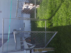 6 by 12 foot fence. With door