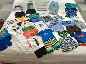 37pieces used BOYS SUMMER CLOTHES 18MONTHS EXCELLENT CONDITION Kitchener / Waterloo Kitchener Area image 1