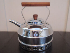 Kettles for Sale, Chrome plated copper kettles from England