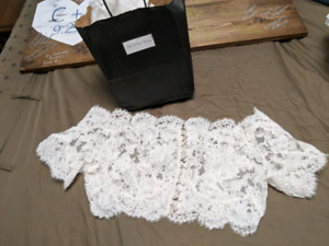 Silk french lace jacket (for wedding dress)
