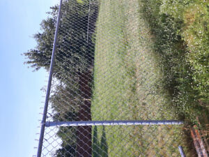 GALVANIZED FENCING, TOP RAILS, GATE AND POSTS