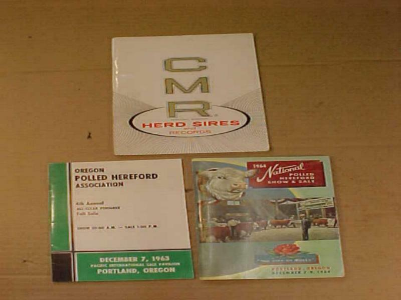 1964 National Polled Hereford Show & Sale Brochure CMR Brochure & More