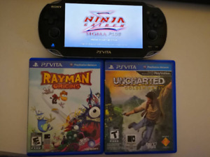 PS Vita with three games (rarely used)
