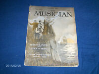 THE MUSICIAN MAGAZINE-1/1912 BACK ISSUE-OLIVER DITSON CO-RARE!