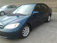 2005 Honda Civic Sedan E-tested & Safety