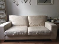 Next cream sofa and sofa bed £250
