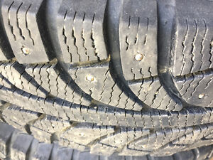Studded winter tires on rims ( Like new!) 185/70 14