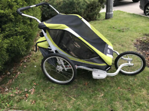 Thule Chariot Cougar 2 with JOGGING KIT and 2 BIKE KITS