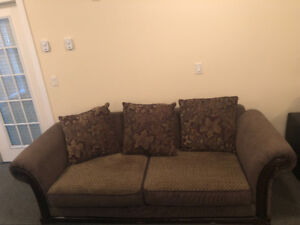 Sofa set, comes with the chair and the ottoman.
