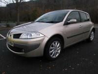 07/57 RENAULT MEGANE 1.6 DYNAMIQUE 5DR HATCH IN MET GOLD WITH ONLY 33,000 MILES