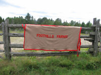 Vintage Foothills Farm wool blanket