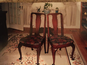 Two Queen Anne style chairs approx 1920s