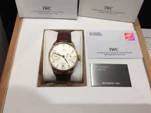 IWC PORTUGUESE 18KT GOLD 7 DAYS BOX PAPERS