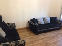 3 and 2 seater modern fabric sofa £250