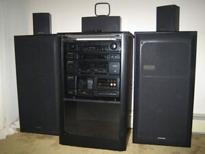 Pioneer Stereo System and Cabinet for sale.
