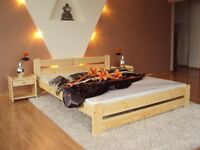Double bed frame- small double 4ft - in natural pine coulour
