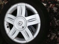 Renault Clio alloy wheels & tyres