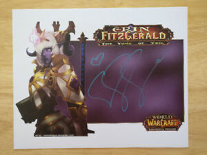 Selling Erin Fitzgerald Autographed World of Warcraft Card