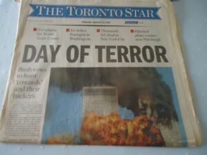 Toronto Star Newspapers  ON   sept 11  2001 Tragedy