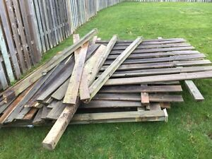 8' wood fence sections and some extra lumber