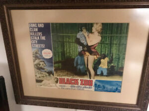 Black Zoo Signed Michael Gough Movie Poster