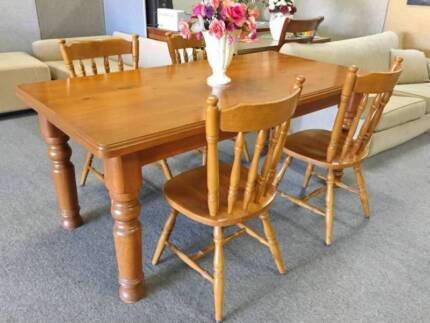 DELIVERY TODAY 5 pieces QUALITY HARD SOLID WOOD dining table Perth Region Preview