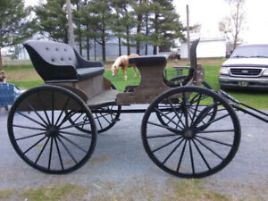 Voiture buggy pour chevaux 1921
