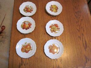 Winterling Roslau Bavaria Fruit and Nut  desert plates