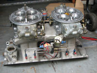 2X 1150 HOLLEY PRO DOMINATOR INTAKE AND NITROUS BBC