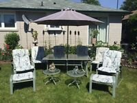 COMPLETE PATIO SET GREAT CONDITION MUST GO ASAP