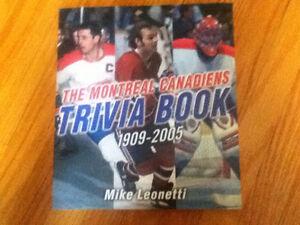 Montreal Canadiens Trivia Book 1909-2005