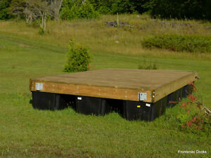 8 x 16 pressure treated floating dock with 4 x 16 ramp Kingston Kingston Area image 9