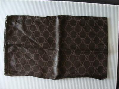 "Gucci Monogram Shoes Dust Bag 16"" x 9.5"" Vintage Drawstring Italy"