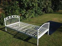 Next white metal frame bed single