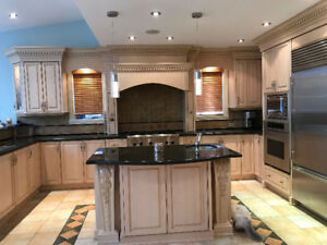 Kitchen cabinets and counters