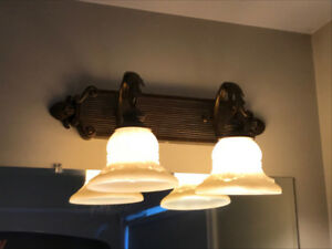 Vintage 2 Light Bathroom Fixture