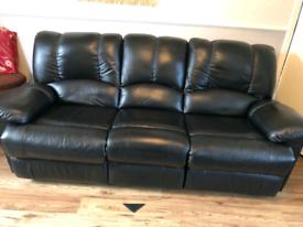 Leather sofa. 3 seater.