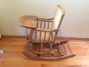 Vintage convertible rocking chair  highchair