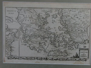 Antique engraving: 'A Correct Map of Ancient Greece' (c. 1782)