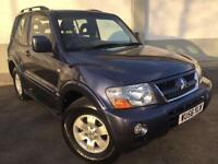 2006 56 MITSUBISHI SHOGUN 3.2DI-D EQUIPPE 3 DOOR MANUEL 4X4 2 OWNERS FROM NEW