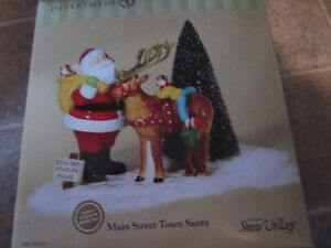 Dept 56 Snow Village - Main Street Town Santa