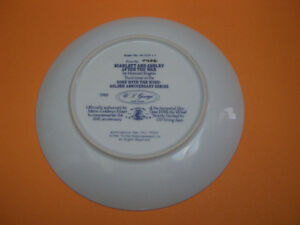 GONE WITH THE WIND COLLECTORS EDITION VHS AND COLLECTOR PLATE London Ontario image 3